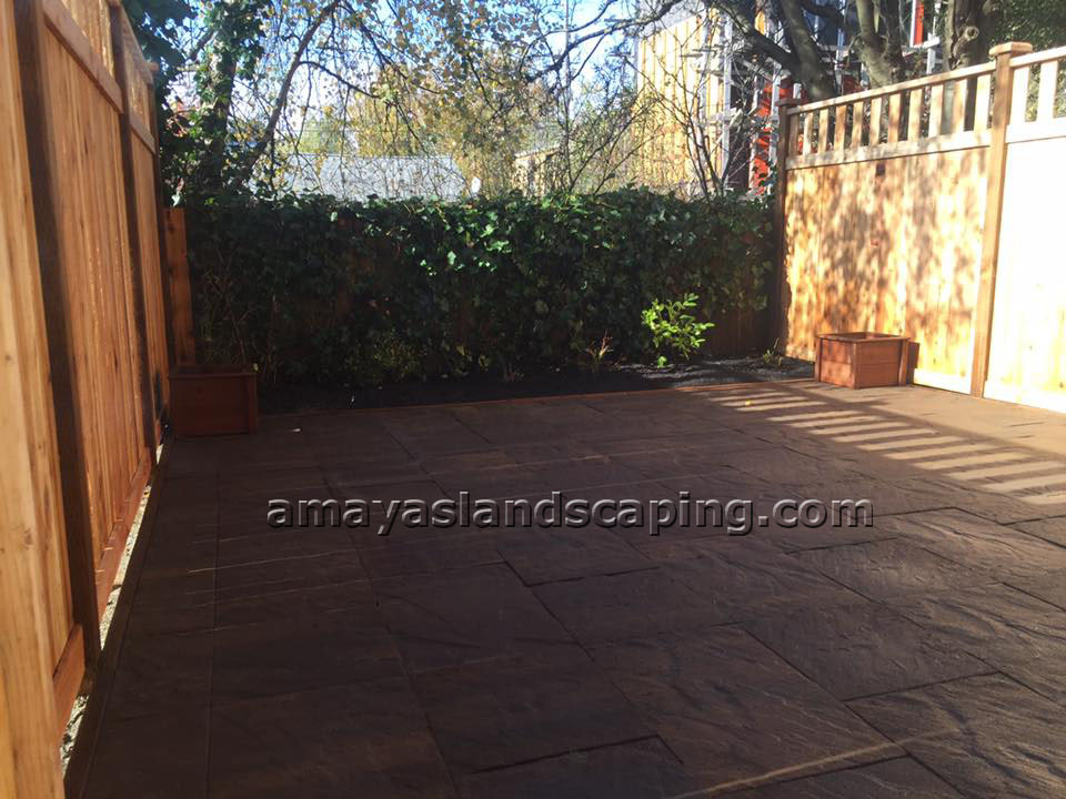 Patio area AFTER installation.